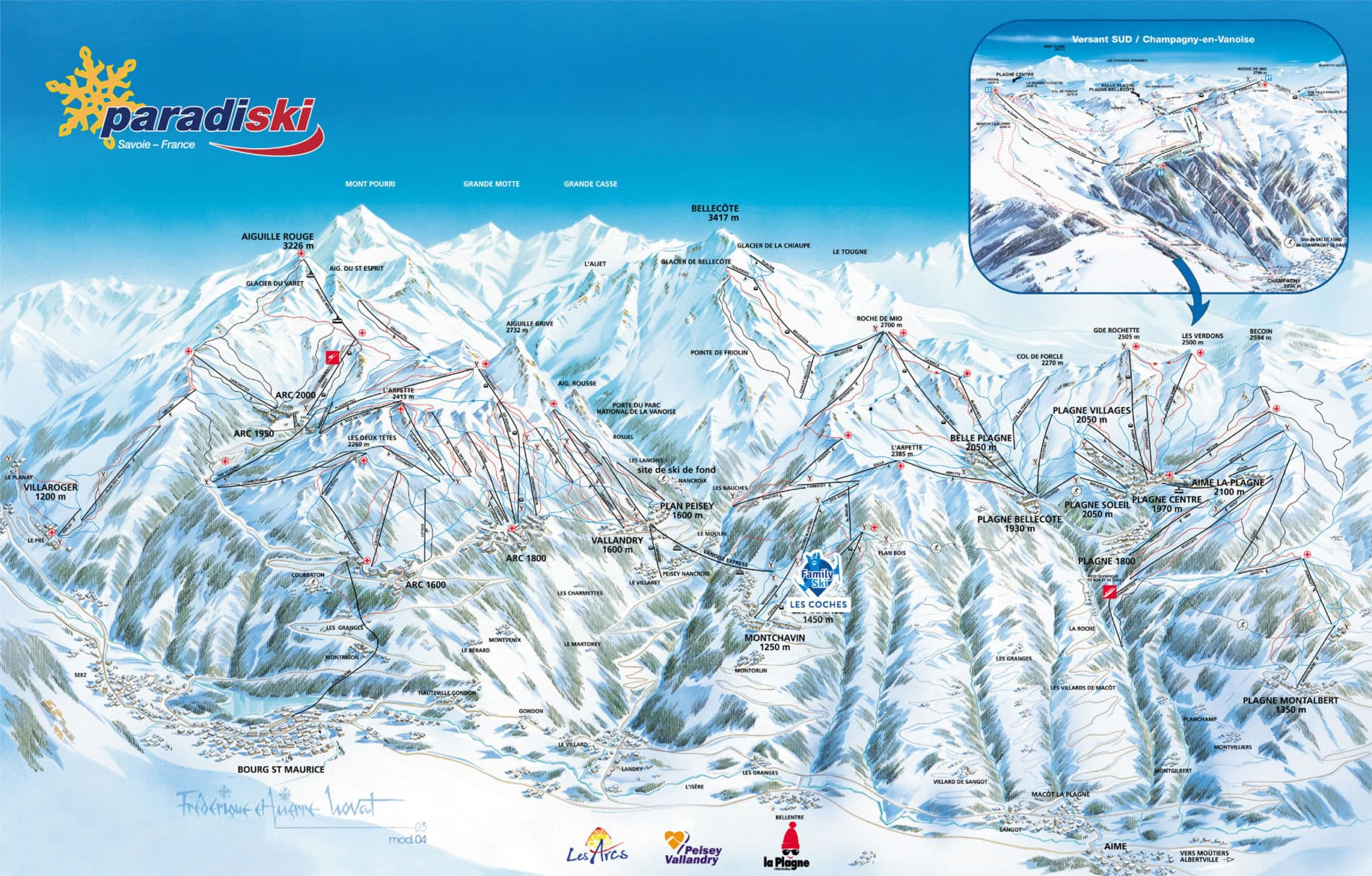 Map Of England 2100.Family Ski Holidays In Paradiski Les Coches The French Alps